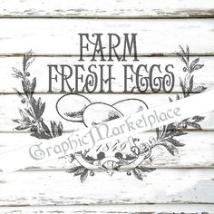 Farm Fresh Eggs Instant Download Transfer by GraphicMarketplace