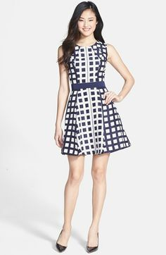 Jessica Simpson Jacquard Fit & Flare Dress | Nordstrom
