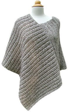 Crochet Poncho Amagansett Poncho PDF Pattern - Morehouse Farm - Classy by day or night, from the city out to the East End. Size: Adult Small, Medium, and Large Yarn: 8 skeins of Morehouse Merino choose 2 colors! Poncho Shawl, Knitted Poncho, Knitted Shawls, Grey Poncho, Capelet, Poncho Knitting Patterns, Loom Knitting, Knit Patterns, Knitting Stitches