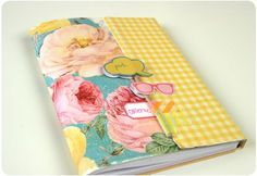 TUTORIAL: Magnetic Closure for a journal/notebook or mini album (Heidi Swapp).