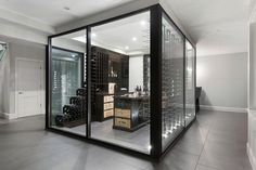 Center of The Room Glass Wine Cellar