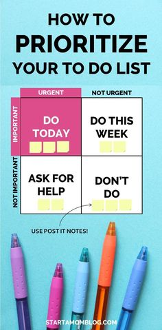 How to Be More Productive and How to Prioritize your To Do list. Ridiculously Simple Method How to Set Your Priorities - Start a Mom Blog