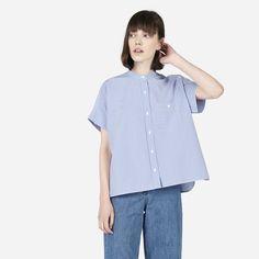 The Striped Cotton Poplin Square Shirt #everlane #modern #fashion