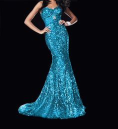 Long Blue Sweetheart Sequence Formal Evening Dress Long Pleated Elegant Mermaid Prom Dress Size 6 8 10 12 14 16 Stock