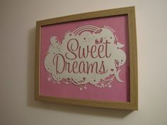 Samantha's Papercuts: Sweet Dreams Paper Cut