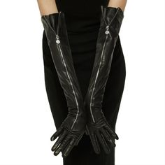 Perrin Paris 1893 Zip Opera Gloves $625