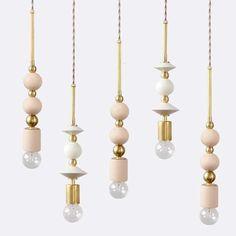 Beaded Pendant Lamp : Spheres