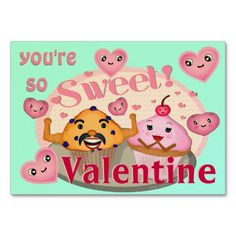 Cute cupcake and funny stud muffin Valentine's Day greeting. #Custom #Funny #Valentines #BusinessCard #Templates