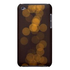 Blurry golden dots in black background barely there iPod cases