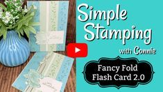Card Making Tutorials, Card Making Techniques, Making Ideas, Fancy Fold Cards, Folded Cards, Craft Paper Storage, Pretty Cards, Paper Cards, Stamping Up