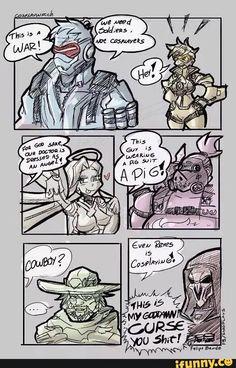 overwatch, mercy, roadhog, reaper, cosplay