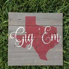 Texas A&M Aggies  College Station Texas Wood Sign by FenceandFancy
