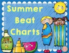 Summer beat charts! So cute! perfect for keeping steady beat at summer camp!
