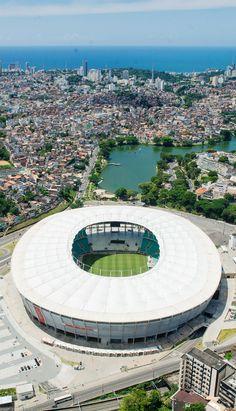 Arena Fonte Nova - Salvador - Bahia - Brasil Brazil Tourism, Brazil Travel, Soccer Stadium, Football Stadiums, Stadium Architecture, Architecture Design, Brazilian People, Rio Grande Do Norte, World Pictures
