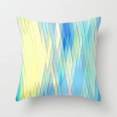 Re-Created Vertices No. 8 by Robert S. Lee pillow by Robert S. Lee
