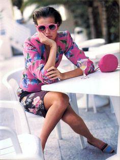 "Vogue US March 1989 Mix It Up!"" Model: Jenny Howorth ph: Arthur Elgort // looks so modern. Floral Fashion, 80s Fashion, Timeless Fashion, Fashion Models, Vintage Fashion, Arthur Elgort, English Fashion, 20th Century Fashion, Vogue Us"