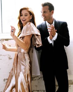 Sarah and Gabriel Vogue <br> Suits Harvey And Donna, Donna Suits, Serie Suits, Suits Tv Series, Sarah Rafferty, Suits Show, Suits Tv Shows, Gabriel Macht, Suit Fashion