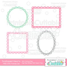 Scalloped Hearts Frames FREE SVG Cutting Files - Free SVG Files, SVG, Cricut Explore, Cricut, Silhouette, Silhouette Cameo, Silhouette Portrait, Free SVG cuts, Eclips, Cutting Files, Make the Cut, Sure Cuts a Lot, SCaL, and other electronic craft cutting machines for scrapbooking, card making, paper crafting, and more!