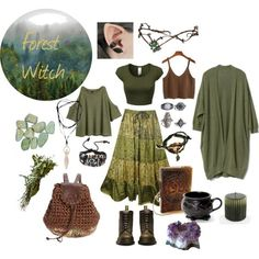 An art collage from August 2017 by kaleanae featuring art Witch Fashion, Boho Fashion, Fashion Outfits, Fashion Styles, Retro Fashion, Fashion Tips, Hippie Style, Vintage Outfits, Witchy Outfit