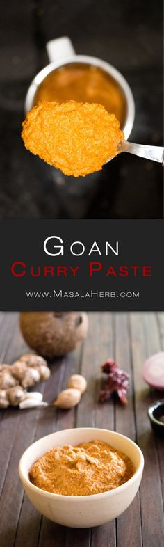 Basic Goan Curry Paste How to make Goan Curry Paste Indian Paste Recipe for Goan Fish Curry www.MasalaHerb.com