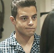 He was so sassy in this movie lol Bebe Love, My Love, Cute Celebrities, Celebs, Rami Malik, Rami Said Malek, Mr Robot, I Want To Cry, Interesting Faces