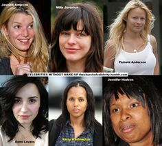 Celebs without Makeup  Seriously? People wear more makeup than clothes...
