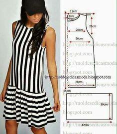 Fashion Sewing, Diy Fashion, Ideias Fashion, Fashion Clothes, Trendy Fashion, Skirt Patterns Sewing, Clothing Patterns, Coat Patterns, Blouse Patterns