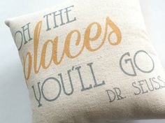 Oh the Places You'll Go By Dr. Seuss on Etsy, $14.95