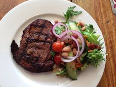 Prime Rib with salad - Restaurants: Hogs Breath Cafe, Cleveland