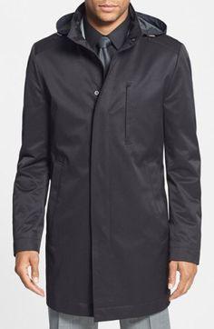 Boss 'the Donal' Raincoat in Black