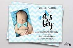 Baby Shower Invitation It is a BOY!. Invitation Templates