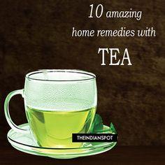 10 amazing beauty Remedies with Tea