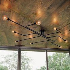 Plafonnier Lustre Luminaire E27 Metal Industriel Lampe Rétro Eclairage Decoratif - Achat / Vente plafonnier - Soldes* dès le 10 janvier Cdiscount