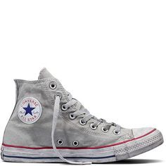 aacd5fa244f Chuck Taylor All Star Basic Wash Gray Gray White Grey Converse
