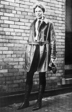 Amelia Earhart ~ tomboy flying chic ~ with fabulous boots!