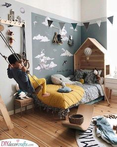 42 Our favorite ideas for a boy& bedroom How to decorate a boy& bedroom room kid room decor kid room ideas room room room ceiling room design room themes decor Kids Room Design, Home Design, Design Ideas, Design Design, Design Model, Girls Bedroom, Bedroom Decor, Bedroom Furniture, Baby Bedroom