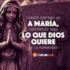 Biblioteca de Catholic-Link - En María encontramos todo lo que Dios quiere de... Representación artística de la Virgen de la Medalla Milagrosa
