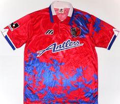 478a6fe92 1995-96 Kashima Antlers Home Shirt L Vintage Football Shirts