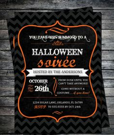 Halloween Soiree anyone?