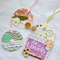 Embellished Tags Scrapbooking Tags Journal by ArtistsCornerShop, $8.00