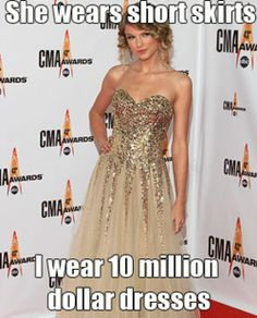 Ha-ha, seriously. Even if I was that rich I wouldn't consider a dress that much for a second.
