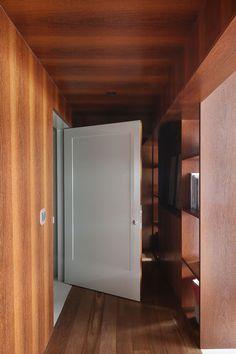 Decoração, Decoração de apartamento, luz natural, ambiente integrado, revestimento, madeira, corredor.