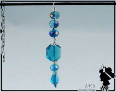 Blue Crystal Pendant by IVsSpecialtyShoppe on Etsy
