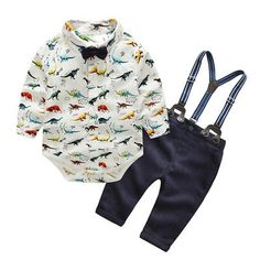 Newborn Baby Girls Boys Long Sleeve Jumpsuit Warm Cool Story Bro Cotton Romper Outfit