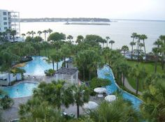Destin West Beach and Bay Resort: the pool and bay