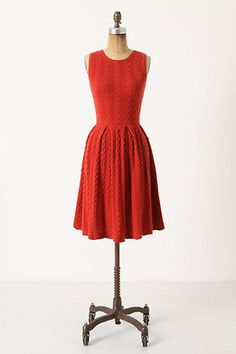 Flared and Cabled Dress