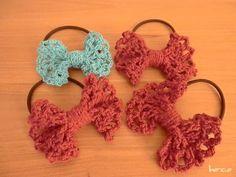 リボンヘアゴムの作り方,編み方|ニット・編み物|かぎ針編み|手芸・ハンドメイド|charm(チャーム)