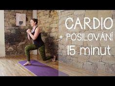 (6) 15 minut | CARDIO + posilování celého těla (bez skákání) - YouTube Hiit, Cardio, Beautiful Figure, Exercise, How To Plan, Youtube, Beauty, Rainbow, Weights