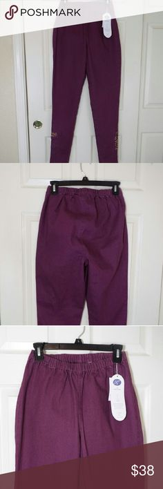DG2 by Diane Gilman Comfort Waist Jeggings DG2 Comfort Waist Jeggings in a very beatiful purple color, never worn, in perfect condition. inseam ( Tall ) 32, the total length 42 DG2 Pants Skinny