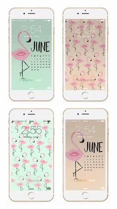 June flamingo phone + desktop wallpaper backgrounds by May Designs! | Download: http://www.maydesigns.com/m/digital-wallpapers-june-2015
